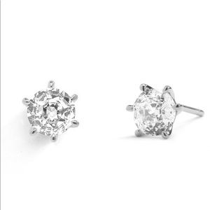 NADRI.925 5MM SOLITAIRE CZ STUD EARRINGS